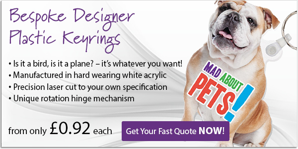 Bespoke Designer Plastic Keyrings