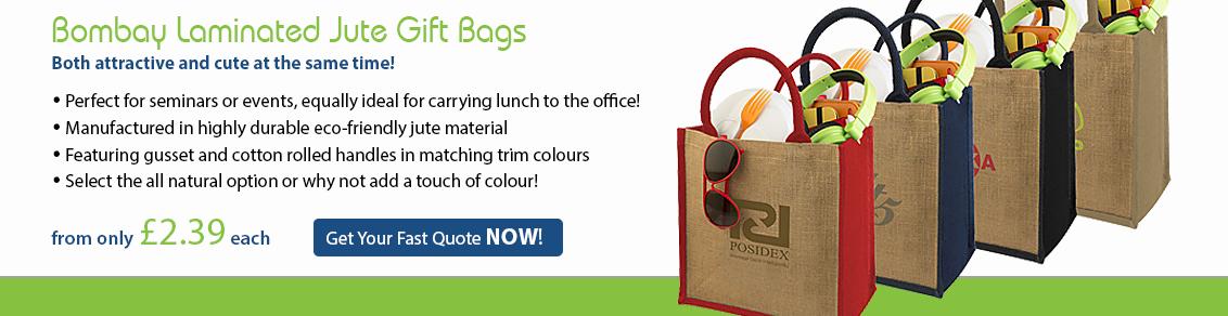 Bombay Laminated Jute Gift Bags