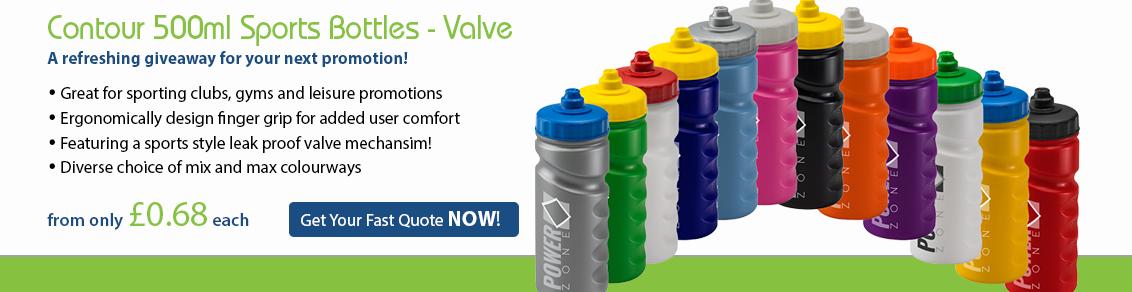 Contour 500ml Sports Bottles