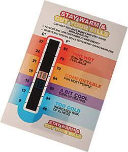 Promotional Large Temperature Gauge Cards Printed With