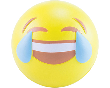 Squishy Foam And Stress Ball Emoji : Promotional Crying With Laughter Emoji Stress Balls Printed with your Logo at GoPromotional
