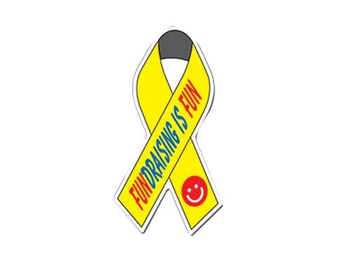 Awareness Ribbon Shaped Paper Sticker
