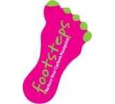 Foot Shaped Paper Sticker