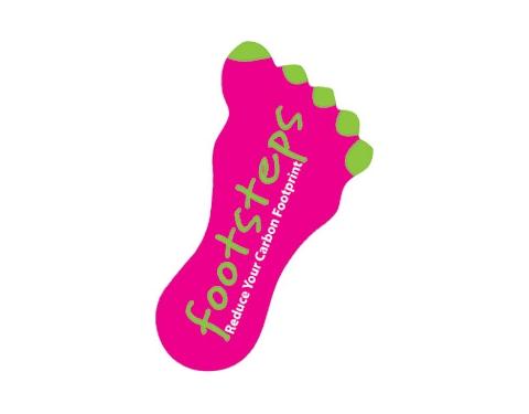 Foot Shaped Paper Sticker