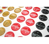 Round Domed Vinyl Sticker