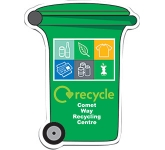 Wheelie Bin Shaped Paper Sticker