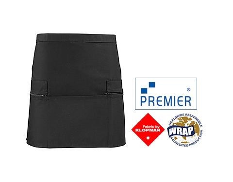 Premier Zipped Pockets Short Apron