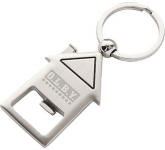 Deluxe House Shaped Keychain Bottle Opener  by Gopromotional - we get your brand noticed!