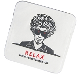 Square Rounded Wax Backed Tissue Coaster