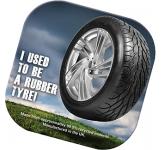 Square Tyre Brite Mat Coaster