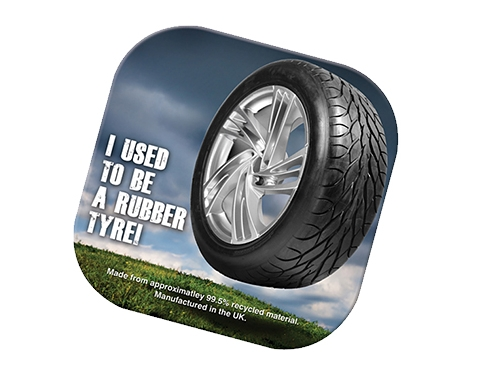 Square Tyre Brite-Mat Coaster