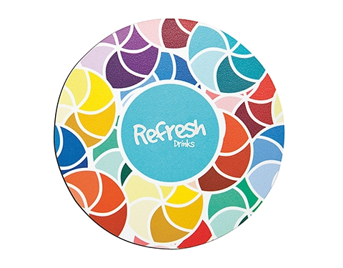 Round Promotional Q-Mat Coaster