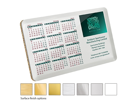 ColourBrite Metal Calendar Coaster
