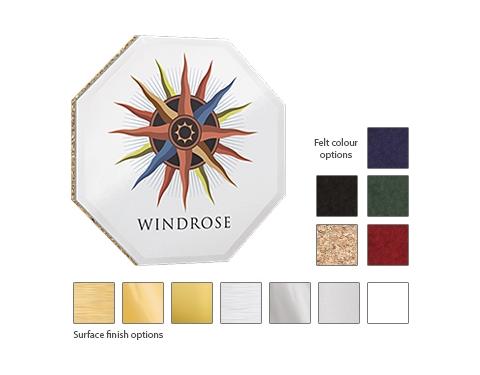 Octagon ColourBrite Metal Coaster