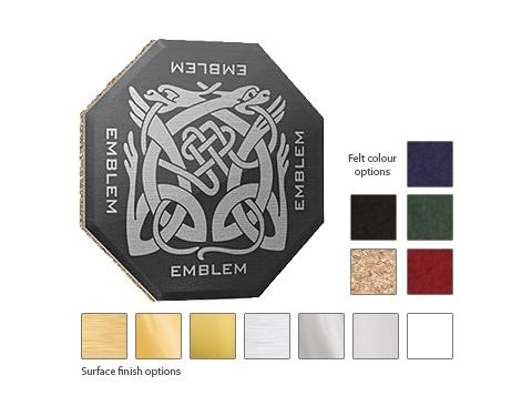 Octagon Printed Metal Coaster