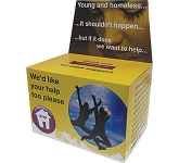 Large Flat Pack Charity Collection Box  by Gopromotional - we get your brand noticed!