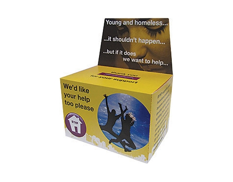 Large Flat Pack Charity Collection Box