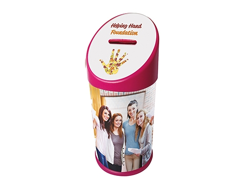 Sloped Topped Charity Collection Box