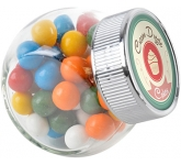 Mini Side Glass Sweet Jars - Gum Balls  by Gopromotional - we get your brand noticed!