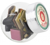 Mini Side Glass Sweet Jars - Liquorice Allsorts  by Gopromotional - we get your brand noticed!