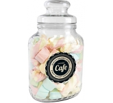 Classic Glass Sweet Jars - Coloured Marshmallows  by Gopromotional - we get your brand noticed!