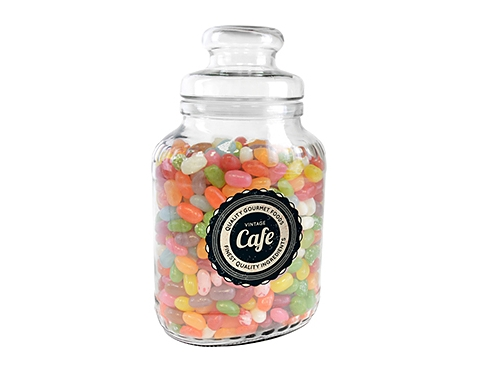Classic Glass Sweet Jars - Jelly Beans