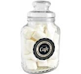 Classic Glass Sweet Jars - Marshmallows  by Gopromotional - we get your brand noticed!