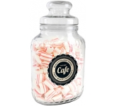 Classic Glass Sweet Jars - Peppermint Pillows  by Gopromotional - we get your brand noticed!