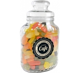 Classic Glass Sweet Jars - Wine Gums  by Gopromotional - we get your brand noticed!