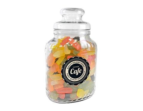 Classic Glass Sweet Jars - Wine Gums
