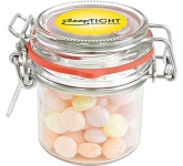 Clip Top Glass Sweet Jars - Fruit Sweets