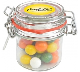 Clip Top Glass Sweet Jars - Gum Balls