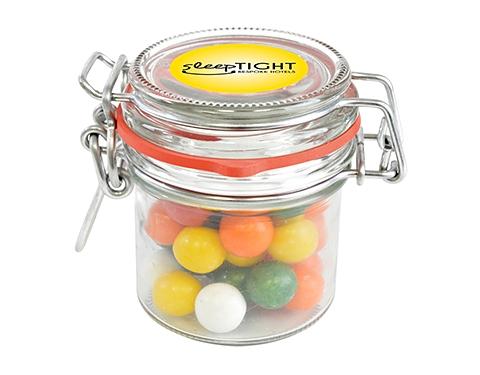 Clip Top Glass Sweet Jars - Gum Balls