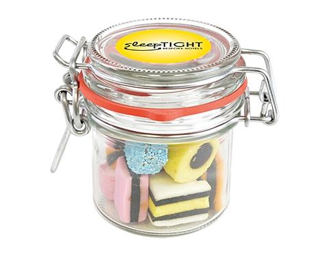 Clip Top Glass Sweet Jars - Liquorice Allsorts