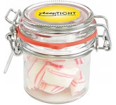 Clip Top Glass Sweet Jars - Peppermint Pillows