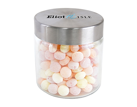 Small Screw Top Glass Sweet Jars - Fruit Sweets