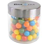 Small Screw Top Glass Sweet Jars - Gum Balls  by Gopromotional - we get your brand noticed!
