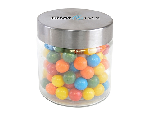 Small Screw Top Glass Sweet Jars - Gum Balls