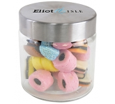 Small Screw Top Glass Sweet Jars - Liquorice Allsorts  by Gopromotional - we get your brand noticed!