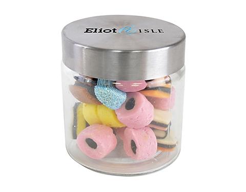 Small Screw Top Glass Sweet Jars - Liquorice Allsorts