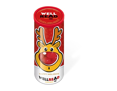 Christmas Midi Sweet Tubes - Rudolph Noses Gourmet Jelly Beans