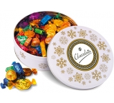 Christmas White Share Tins - Quality Street  by Gopromotional - we get your brand noticed!