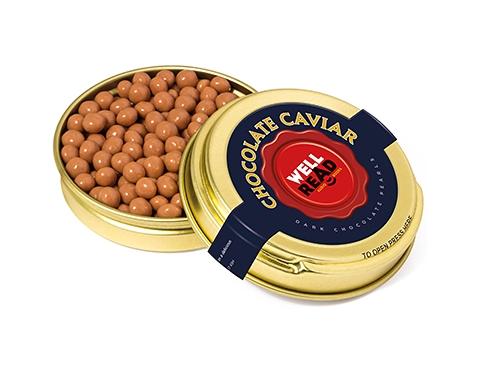 Gold Caviar Treat Tins - Salted Caramel Chocolate Pearls