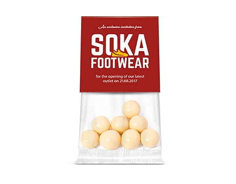 Info Sweet Cards - White Chocolate Malt Balls