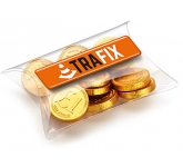 Large Sweet Pouches - Chocolate Coins  by Gopromotional - we get your brand noticed!