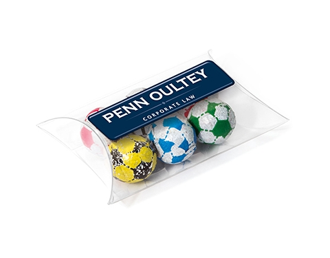 Large Sweet Pouches - Foil Wrapped Chocolate Footballs