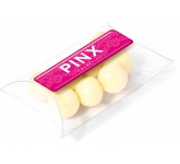 Large Sweet Pouches - White Chocolate Malt Balls  by Gopromotional - we get your brand noticed!