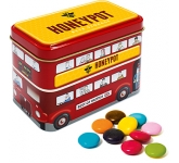 London Bus Sweet Tins - Chocolate Beanies
