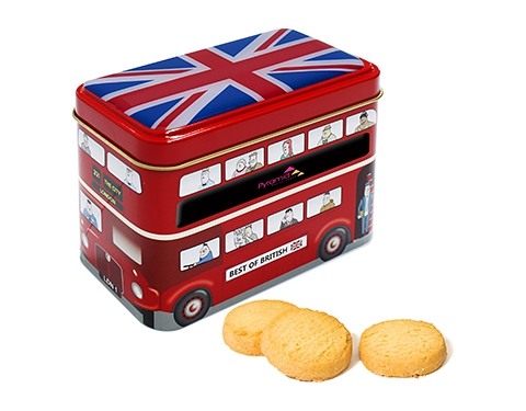 London Bus Tin - Original Scottish Mini Shortbread