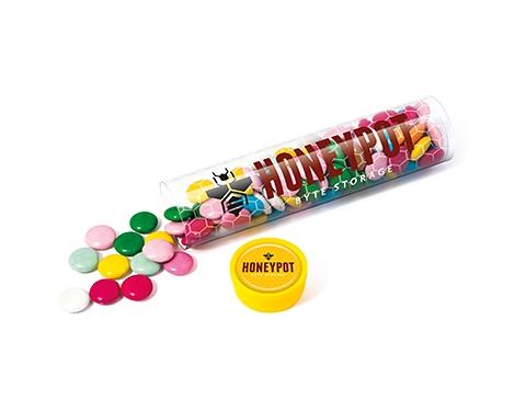 Maxi Clear Sweet Tubes - Chocolate Beanies